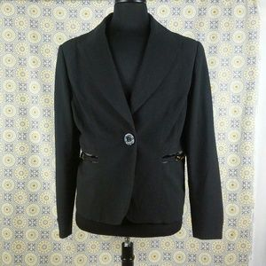 Madison Mitchelle lined black blazer size 16